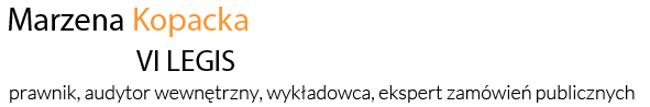 VI LEGIS Marzena Kopacka | usługi szkoleniowe i doradcze.